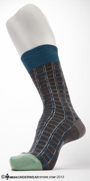 Hugo Boss Squares Cotton Sock