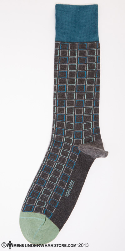 Hugo Boss Squares Cotton Sock