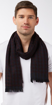 Hugo Boss Wool Logo Scarf