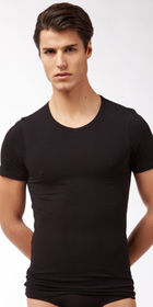 Naked Pima Cotton V-Neck Shirt