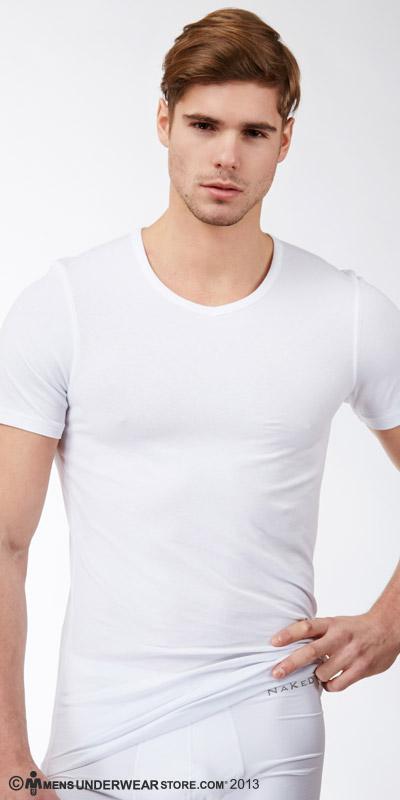 Naked Pima Cotton V Shirt