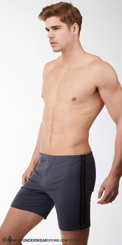 Sauvage Striped Tactel Workout Short