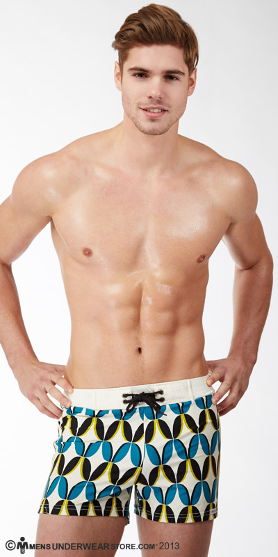 Sauvage Vintage Printed Retro Swim