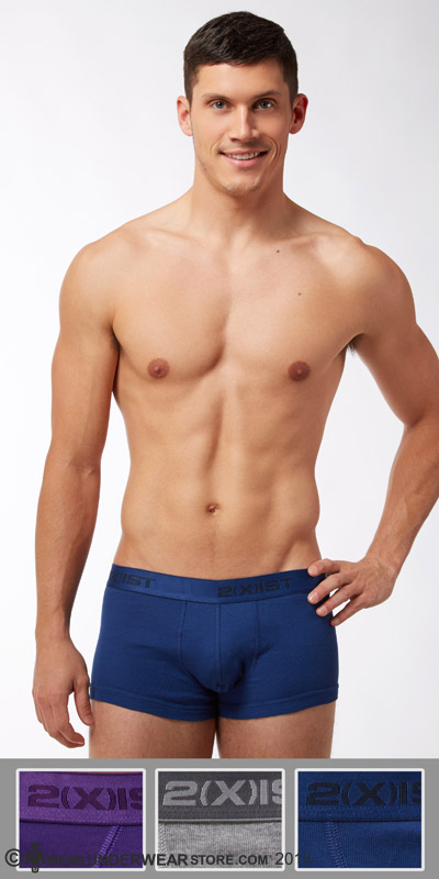 2XIST Essential 3-Pack No Show Trunks