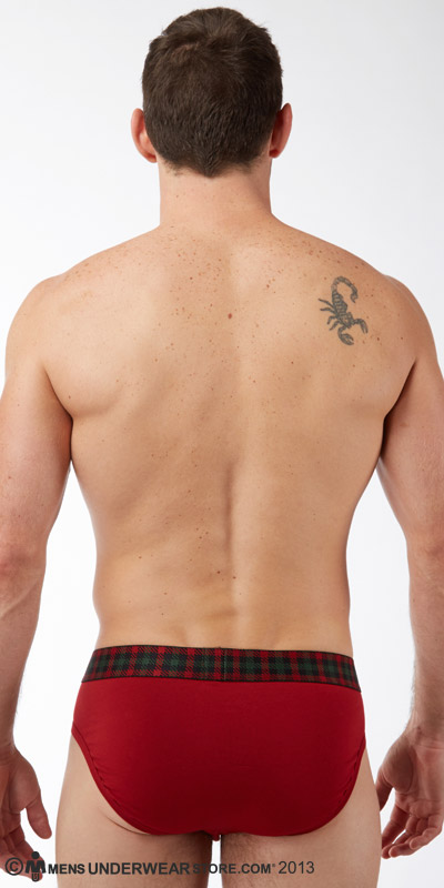 2XIST Tartan No Show Brief
