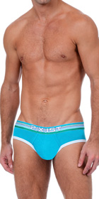 2XIST Beach Stripe No Show Briefs