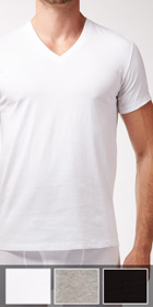 Calvin Klein Cotton Classics 3-Pack Short Sleeve V-Neck
