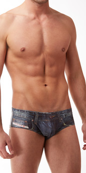 Clever Denim Jean Latin Briefs