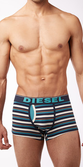 Diesel Stripes Semaji Boxer Briefs