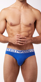 Emporio Armani Cotton Metallic Stretch Cotton Briefs
