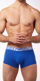 Emporio Armani Cotton Metallics Stretch Cotton Trunks