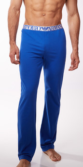 Emporio Armani Cotton Metallics Stretch Cotton Lounge Pants