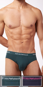 Emporio Armani 2-Pack Stretch Cotton Briefs
