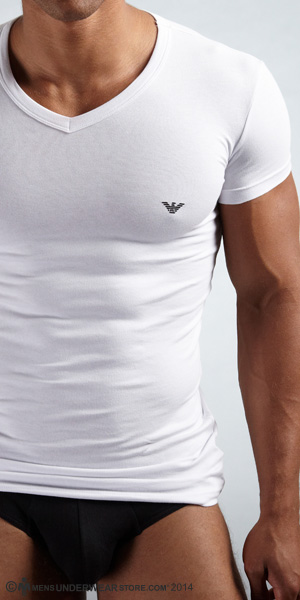 Emporio Armani Eagle V-Neck T-Shirt