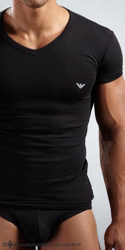 Emporio Armani Eagle V-Neck T-Shirt