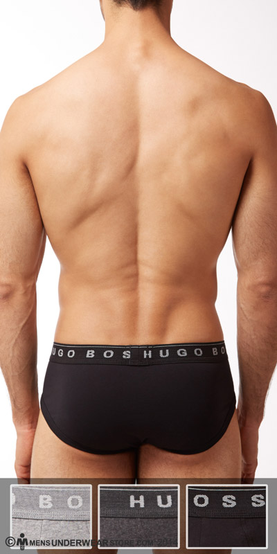 HUGO BOSS Perfect Cotton Traditional Brief 3-Pack