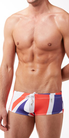 JOR British Square-Cut Swim Trunks