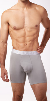 Naked Silver Boxer Briefs