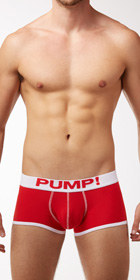 PUMP! Neon Fuel Red Boxers