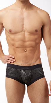 Male Power Crinkle Disc Mini Short