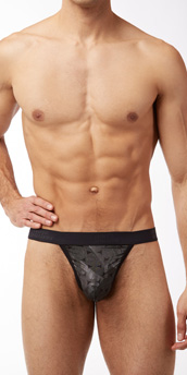 Male Power Crinkle Disc Thong