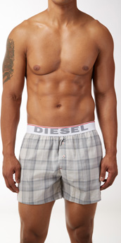 Diesel Luv Plaid Boxer Shorts