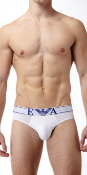 Emporio Armani Pop Logo Stretch Cotton Brief