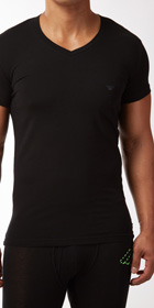 Emporio Armani Retro Eagle V-Neck Shirt