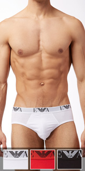 Emporio Armani 3-Pack Genuine Cotton Brief